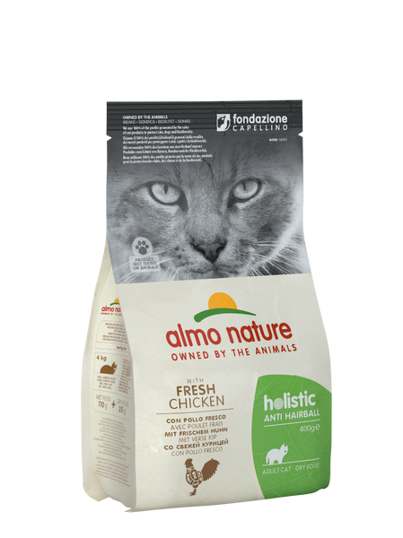 HOLISTIC CAT Anti-Hairball Pollo 400gr e 2kg