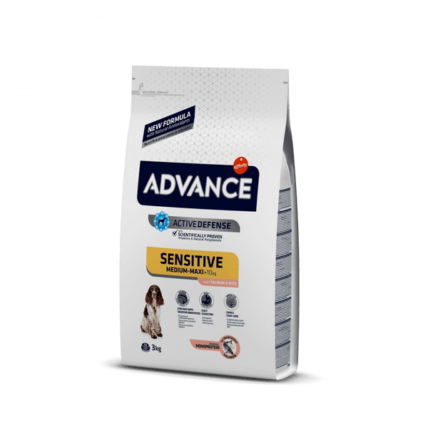 ADVANCE SENSITIVE MED/MAX SALMON & RICE