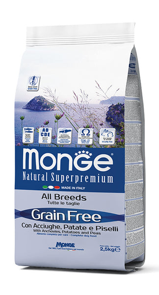 Grain Free con Acciughe, Patate e Piselli – All Breeds