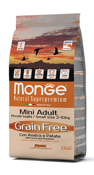 Grain Free con Anatra e Patate – Mini Adult 2,5KG