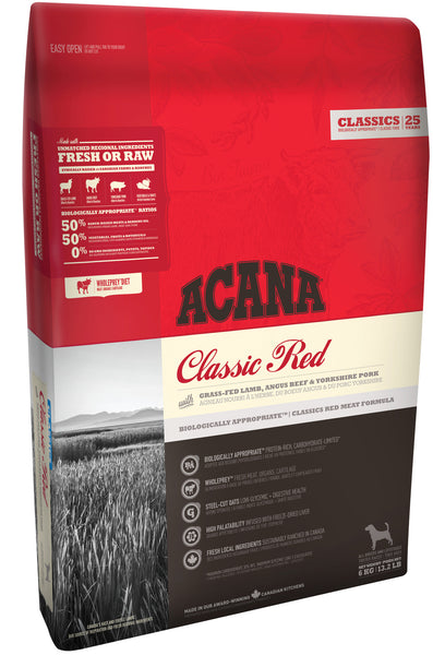 Acana Dog - Classics New - CLASSIC RED