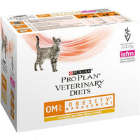 PURINA PRO PLAN VETERINARY DIETS umido gatto OM Obesity Management St/Ox ricco in pollo 10X85GR