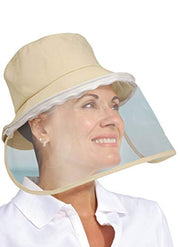 North American Wellness - Xpert Care Face Shield w/ Hat - Tan
