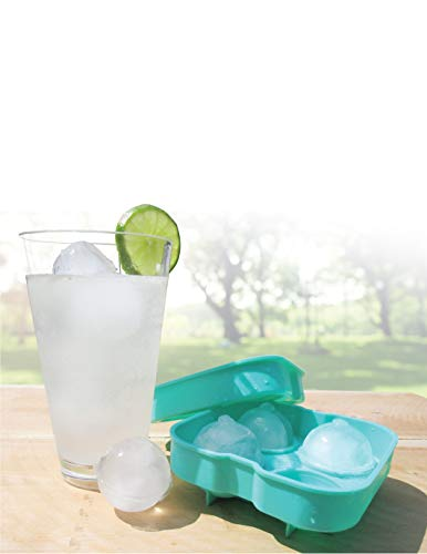Handy Gourmet Ice Ball Tray - Slow, Long Lasting Melt - Teal