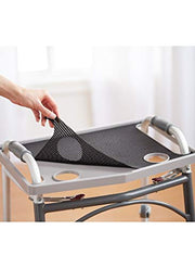 North American Wellness - Walker Tray W/ Grip Mat - Gray