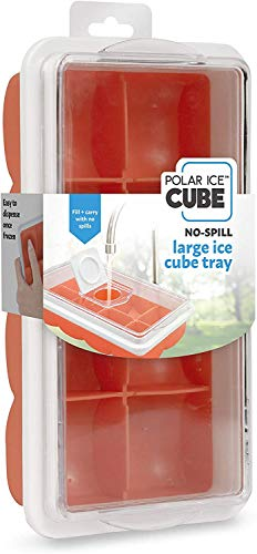 Handy Gourmet Large Ice Cube Tray w/No Spill Cover - Citrus