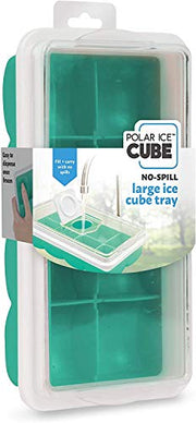 Handy Gourmet Large Ice Cube Tray w/No Spill Cover - Teal