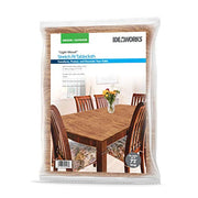 IdeaWorks 6ft Rectangle Stretch - Fit Table Covers Transform, Protect and Decorate Your Table - Wood