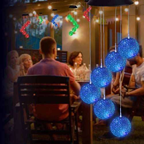 IdeaWorks Solar Mobile Bubble Lights – Color Changing Lights