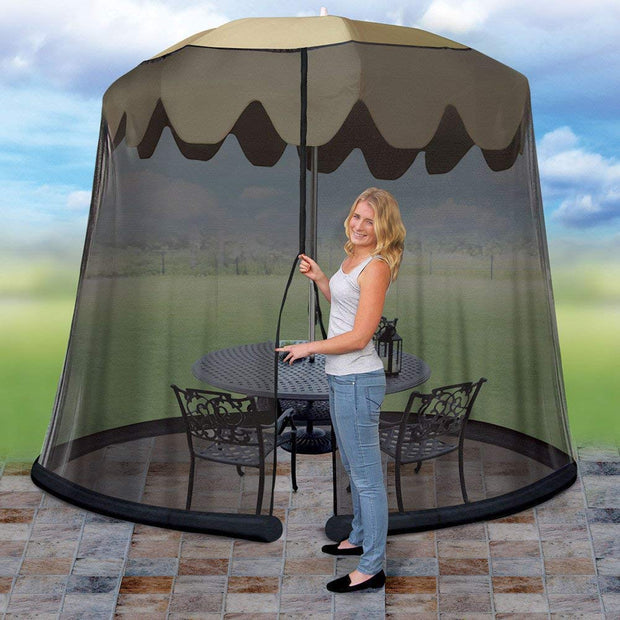 IdeaWorks - 9' Umbrella Table Screen-Black