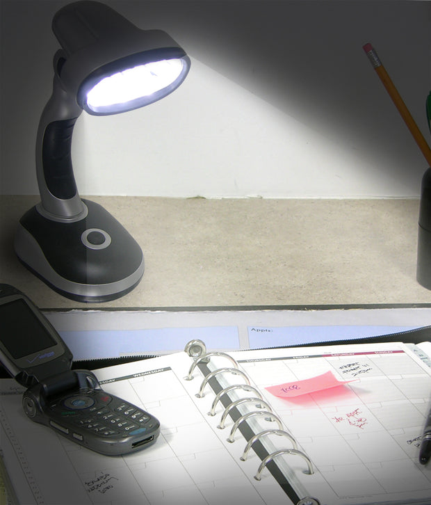 IdeaWorks - S/2 Led Desk Lamps- Gray Color