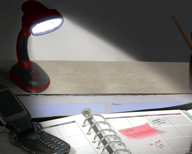 IdeaWorks - S/2 Led Desk Lamps -Red/Blue