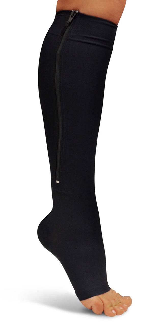 North American Wellness - Zipper Compression Socks-Lg-Bk