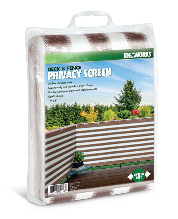 IdeaWorks - Deck/Fence Privacy Screen-Brn