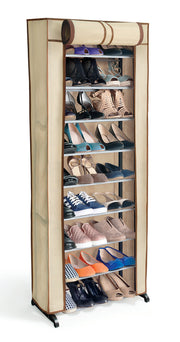 My Home - 30 Pair Shoe Rack W/Cover