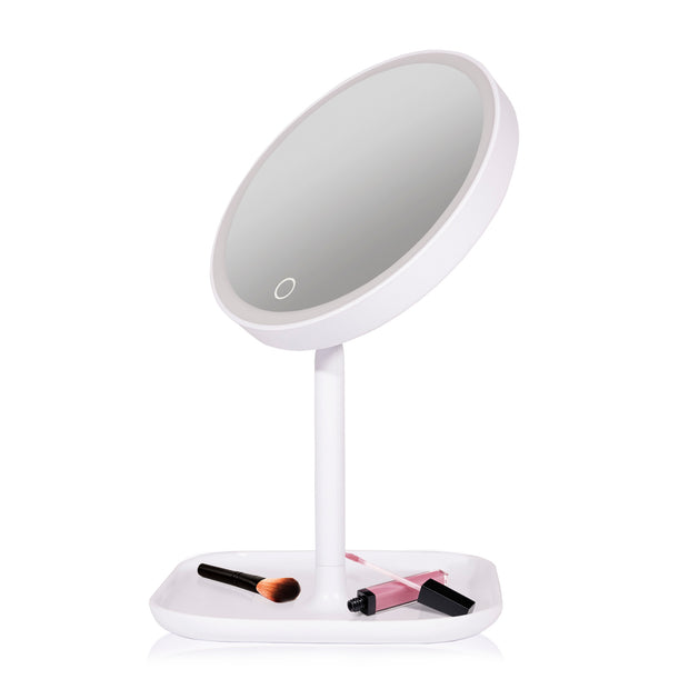 IdeaWorks - Round Lighted Makeup Mirror