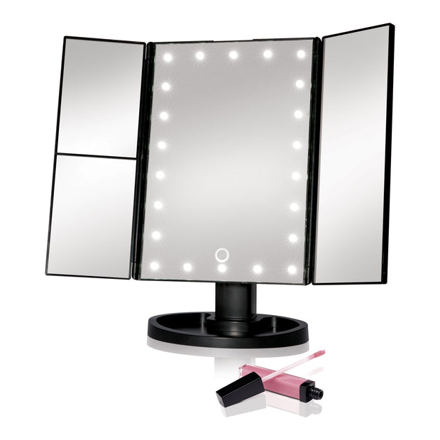 IdeaWorks - Black - Tri-Fold Makeup Mirror