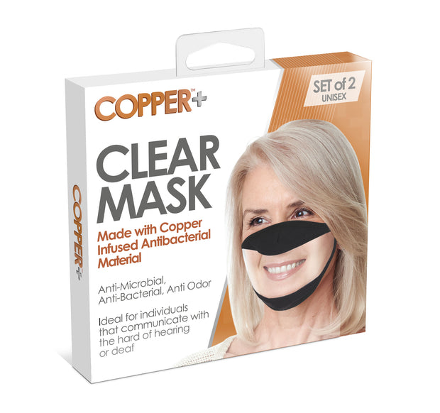 North American Wellness - S/2 Copper + Clear Mask