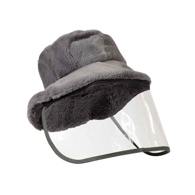 North American Wellness - Xpert Face Shield w/ Winter Hat - Gray