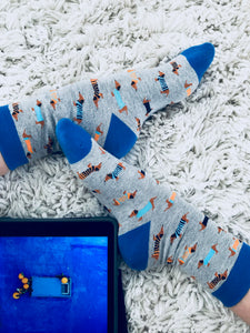 Doggo Socks - Grey/Blue