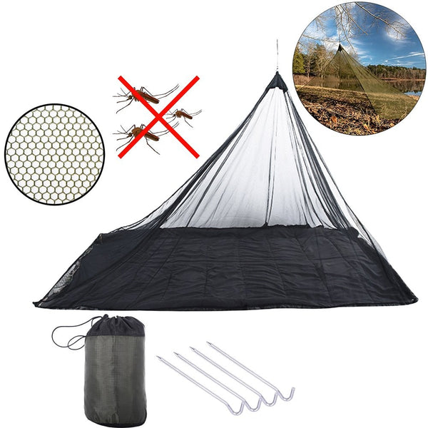 Compact and Lightweight Pyramid Net (Black) Camping Tent