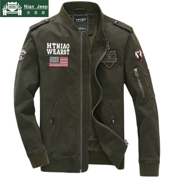 Army Military Style Jacket Men