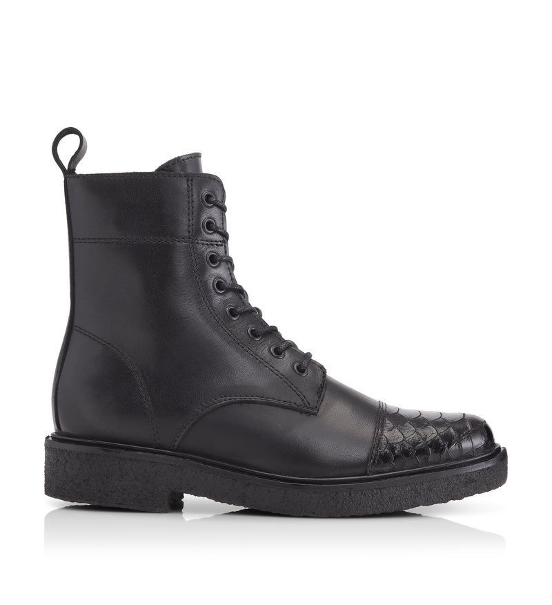 Shoe Biz Pem Short Boot Black