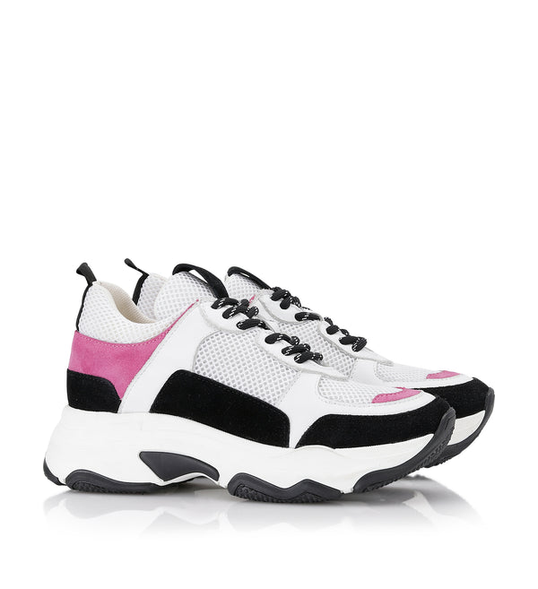 Shoe Biz Rad Pink Mix Sneaker White / Pink /Black