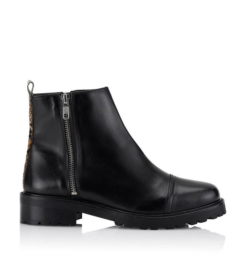 Gardenia Copenhagen Vancouver Short Boot Black Yellow