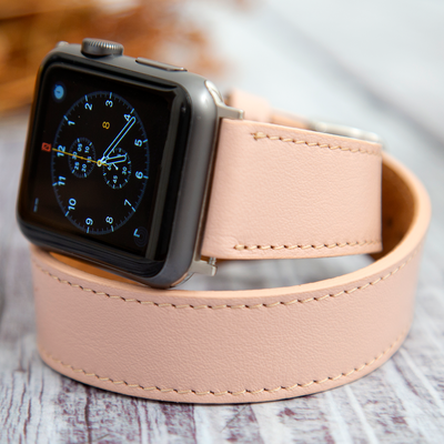 Double Tour Leather Apple Watch Straps