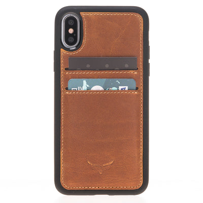 Leather phone case with card holder