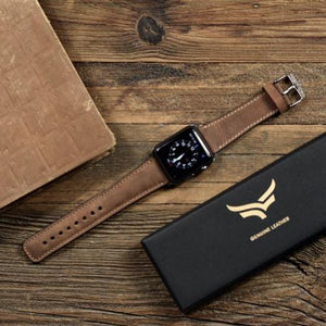 Classic Handmade Leather Apple Watch Band - 44mm, 42mm, 40mm, 38mm - Venosacase