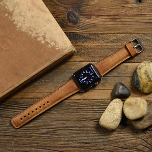 Leather Apple Watch Leather Band Light Brown - Venosacase