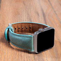 Apple Watch Bands Leather Classic Handmade Genuine Leather Strap Sea Green
