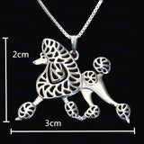 Poodle Dog Pendant Necklaces