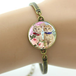 White Cat Face Bracelet