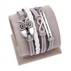 Antique Owl Engrave Bracelet