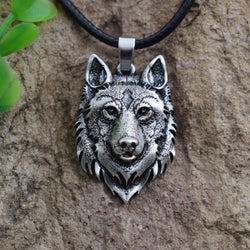 Wolf Head Necklace Pendant