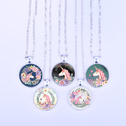 Cute Pink Unicorn Necklace