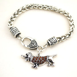 Crystal Dogs  Bracelet