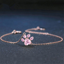 Fashion Crystal Paw Bracelet
