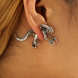 Black Metal Stud Earrings