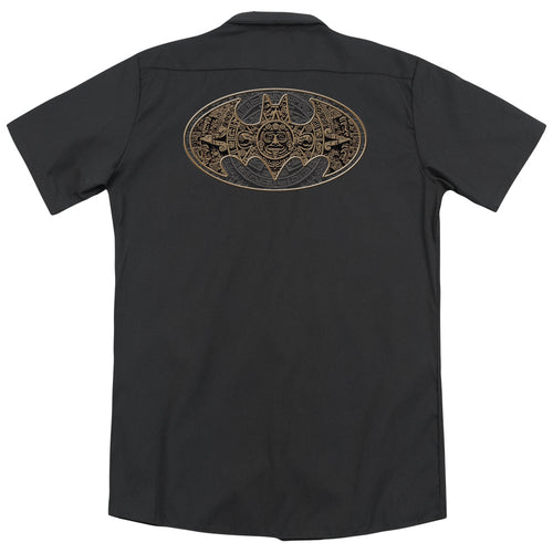 Batman - Aztec Bat Logo (Back Print) Adult Work Shirt