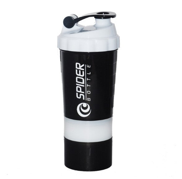 3 Layers Whey Protein Shaker Bottle