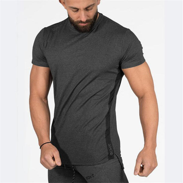 Men Designer T Shirt Casual Quick Dry Slim Shirt