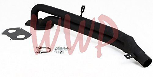 Black Coated Performance Exhaust Header System Kit 79-85 Mazda Rx-7 Rx7  Sa/Fb 1 2L/12A