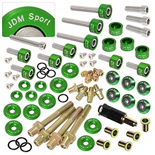 New Low Profile Engine Valve Cover Bolts for B16//B17//B18 V-tec Engines Green