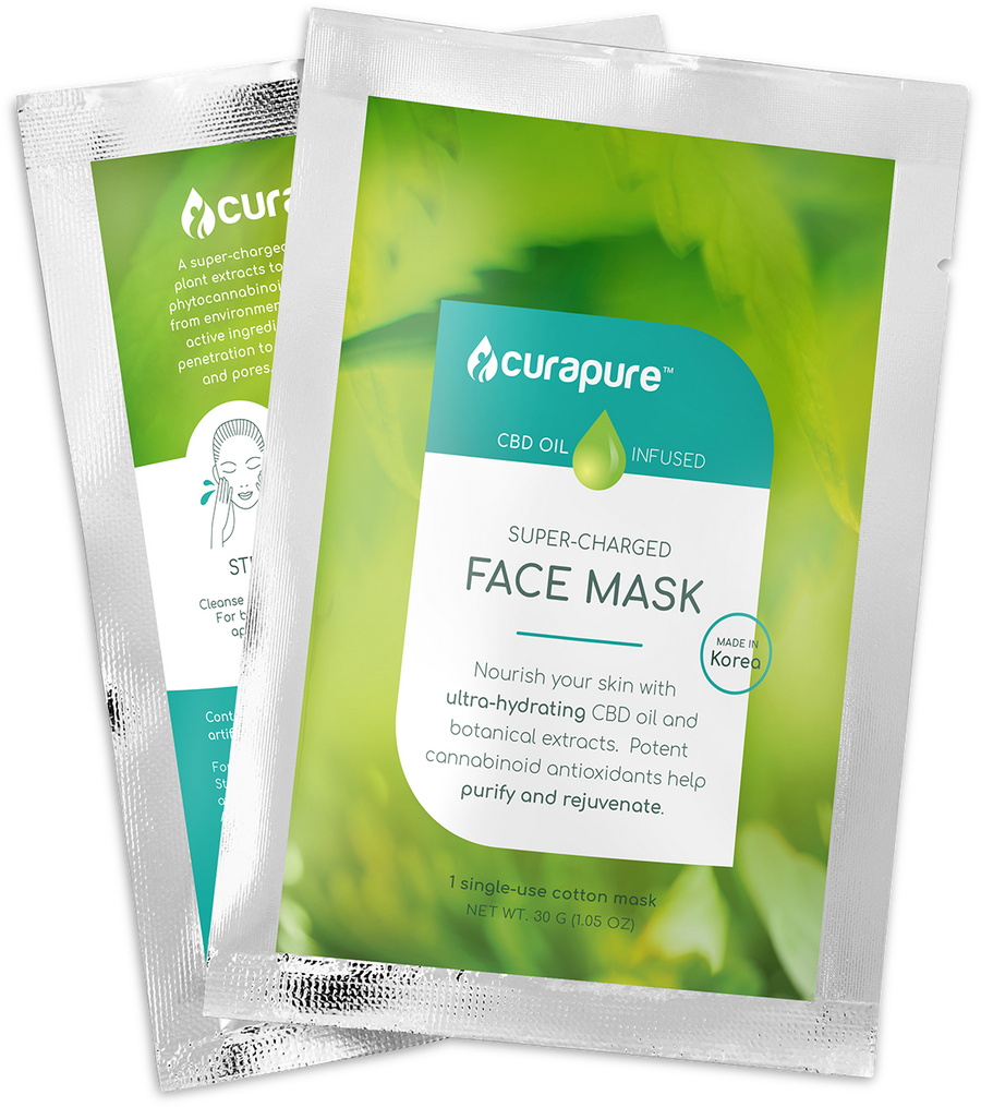 Curapure CBD-Infused Sheet Mask - 3 Pack