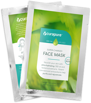 Curapure CBD-Infused Sheet Mask - 2 Pack
