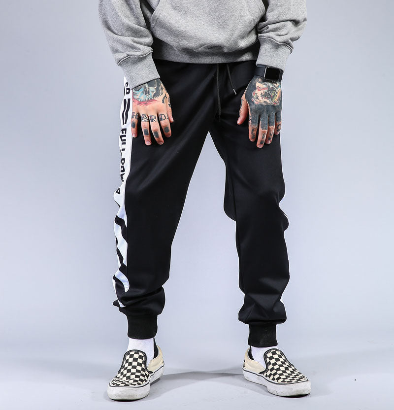 The Striped Patchwork Joggers - FashionlyX
